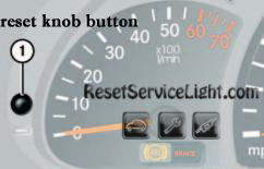 Reset knob mercedes G55 AMG 2003