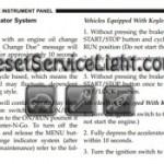 Reset oil service light Jeep Grand Cherokee SRT-8