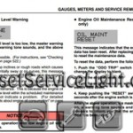 Reset oil service light Lexus GS 300 manual 2006