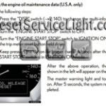 Reset oil service light Lexus GS 460 manual 2008-2012