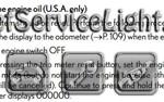 Reset oil service light Lexus IS 250 manual