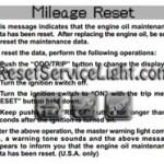 Reset oil service light Lexus LS 430 manual