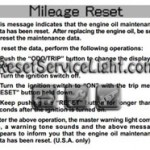 Reset oil service light Lexus LS Series manual