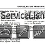 Reset maintenance required light Lexus RX 330 manual