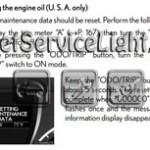 Reset oil service light Lexus RX 450H