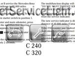 Reset oil service light Mercedes C 200 2001