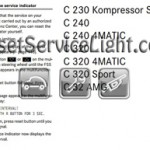 Reset oil service light Mercedes C 270 2004