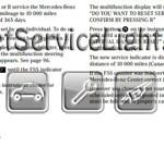 Reset service interval indicator Mercedes E55 AMG manual 2001-2002