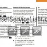 Reset service light indicator Mercedes G55 AMG manual 2003