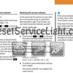Reset service light indicator Mercedes G55 AMG manual 2004