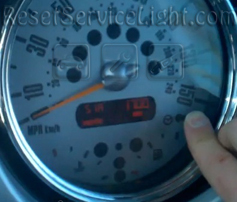 Reset oil indicator Mini R50