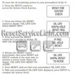 Reset oil monitoring system Mercury Monterey