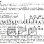 Reset oil service light Mercury Mariner