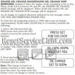 Reset oil service light Mercury Mariner Hybrid manual 2007