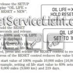 Reset oil service light Mercury Mariner Hybrid manual 2008
