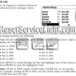 Reset oil service light Mercury Milan Hybrid