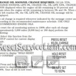 Reset oil service light Mercury Montego
