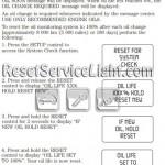 Reset oil service light Mercury Monterey