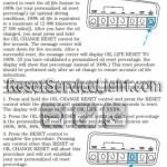 Reset oil service light Mercury Mountaineer manual 1999-2001