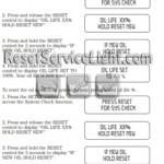 Reset oil service light Mercury Mountaineer manual 2002-2003