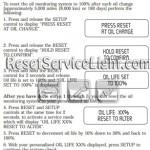 Reset oil service light Mercury Mountaineer manual 2004-2005