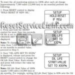 Reset oil service light Mercury Mountaineer manual 2008-2010