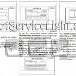 Reset oil service light Nissan Altima manual 2005-2006