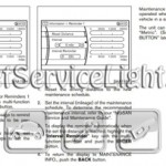 Reset oil service light Nissan Murano manual 2009-2010