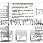 Reset oil service light Nissan Murano manual 2011-2012