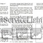Reset oil service light Nissan Z12 Cube manual