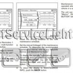 Reset oil service light Nissan Z51 Murano manual 2009-2010