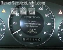 Reset service interval Mercedes CLK 240 2004