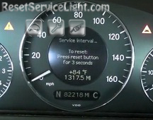 Reset service interval Mercedes CLK 320 2004