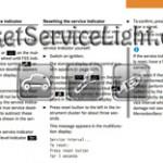 Reset service light indicator Mercedes CLK 200 CGI manual 2004