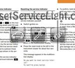 Reset service light indicator Mercedes CLK 200 Kompressor manual 2000-2003