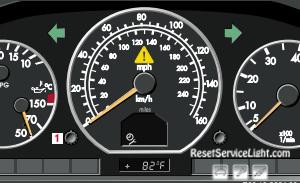 Reset service light indicator Mercedes SL Class R230 2001-2002