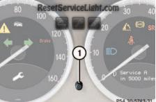 Reset service light indicator Mercedes SL Class R230 2003-2004