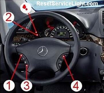 Reset service light indicator Mercedes Viano