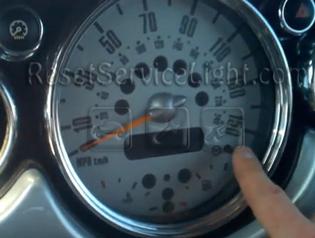 Reset service light indicator Mini Cabriolet R52