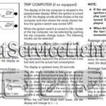 Reset service light indicator Nissan Frontier manual 2005-2010