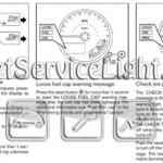 Reset service light indicator Nissan Frontier manual 2011-2012