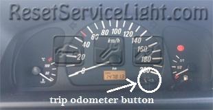 Reset service light indicator Opel Agila A
