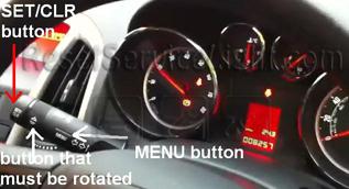 Reset service light indicator Opel Astra J