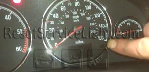 Reset service light indicator Opel Signum