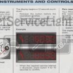 Reset service light indicator Peugeot 206 CC manual