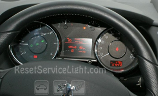 Reset service light indicator Peugeot 3008