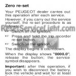 Reset service light indicator Peugeot 3B 307 CC manual