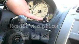 Reset service light indicator Peugeot 407 6D
