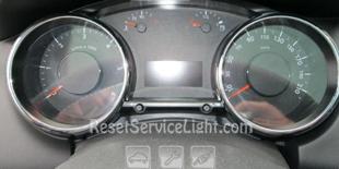 Reset service light indicator Peugeot 5008