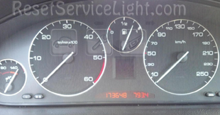 Reset service light indicator Peugeot 607 9U